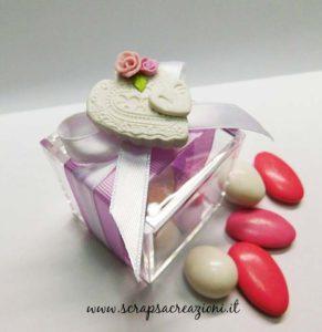 bomboniere matrimonio scatolina portaconfetti plexiglass