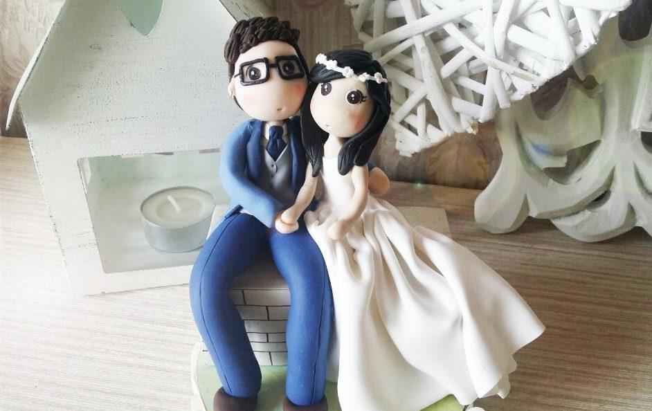 cake topper matrimonio sposini personalizzati