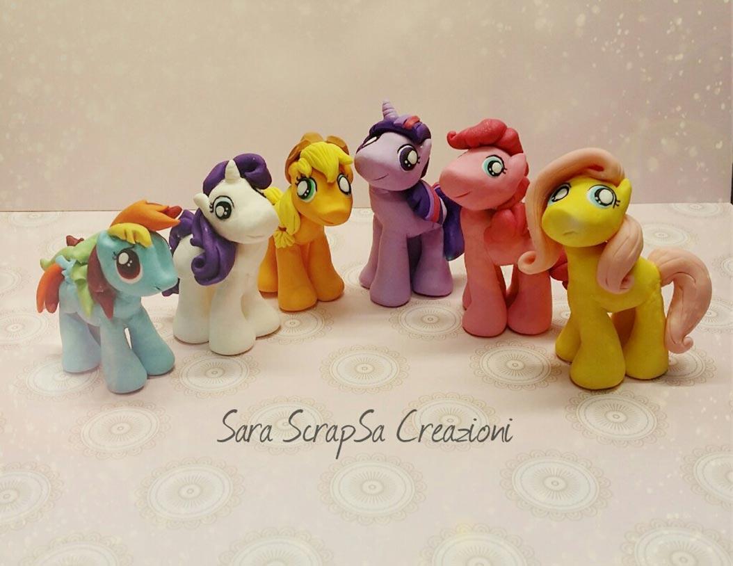 bomboniere compleanno mini pony fimo