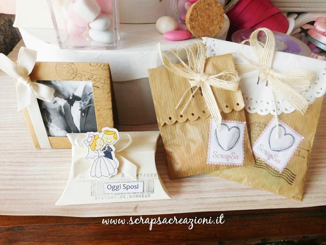 bomboniere matrimonio eleganti sacchetti portaconfetti