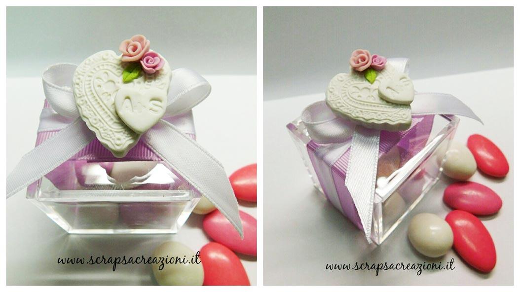 bomboniere matrimonio eleganti scatolina portaconfetti