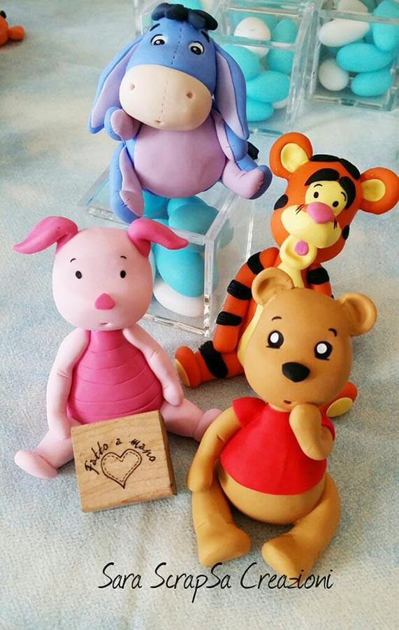 bomboniere nascita fimo winnie the pooh