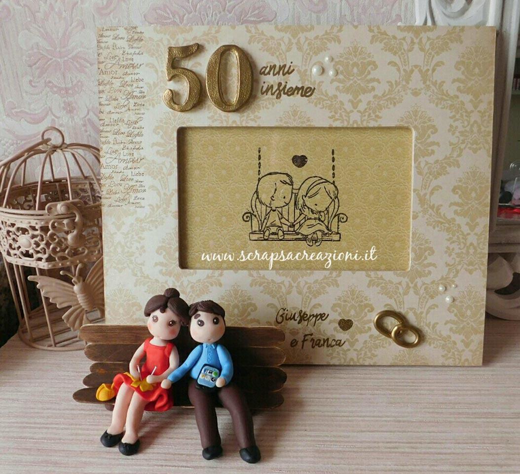 cake topper anniversario di matrimonio 50 anni