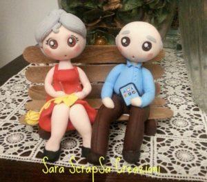 Cake topper per anniversario 50 anni di matrimonio