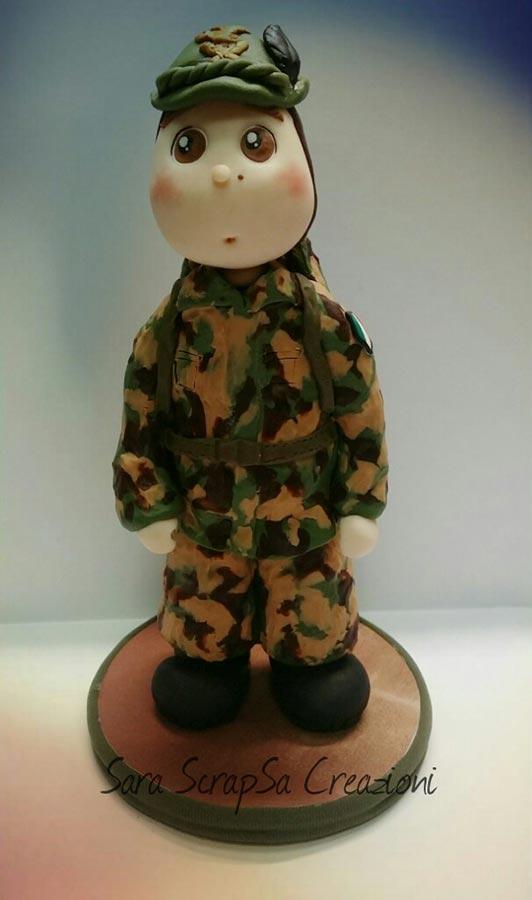 cake topper compleanni militare soldato