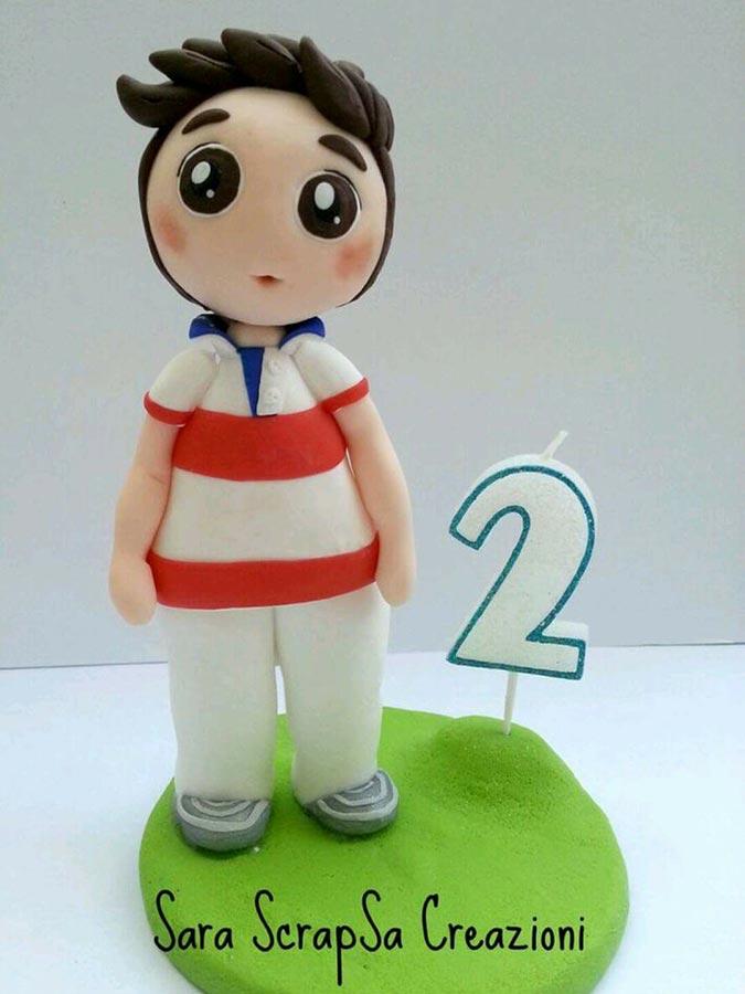 cake topper compleanno bambino 2 anni