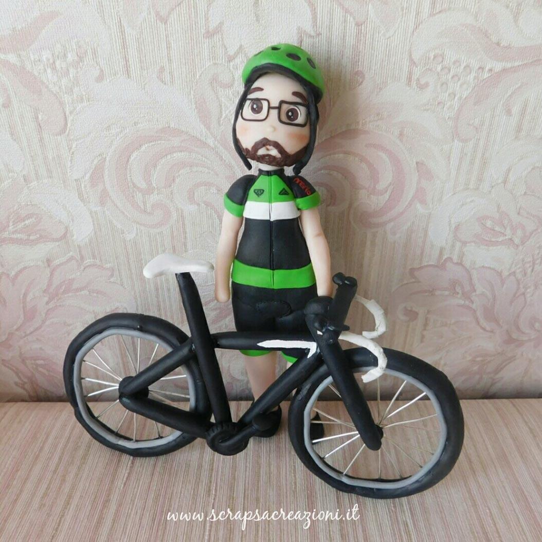 cake topper compleanno bici ciclista