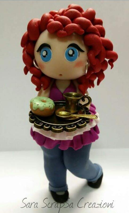 cake topper compleanno cuoca dolci