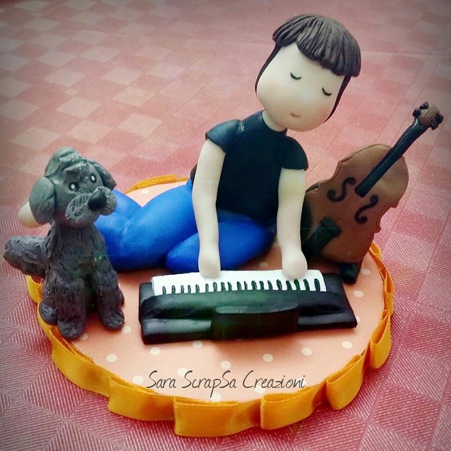 cake topper compleanno musicista