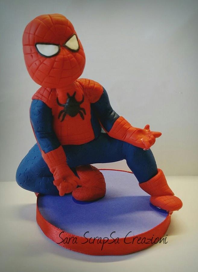 cake topper compleanno spiderman uomo ragno