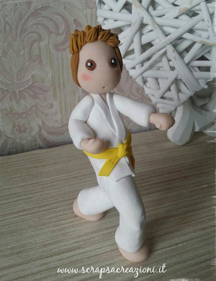 cake topper per cresima sport karate