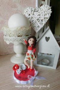 cake topper cresima ragazza