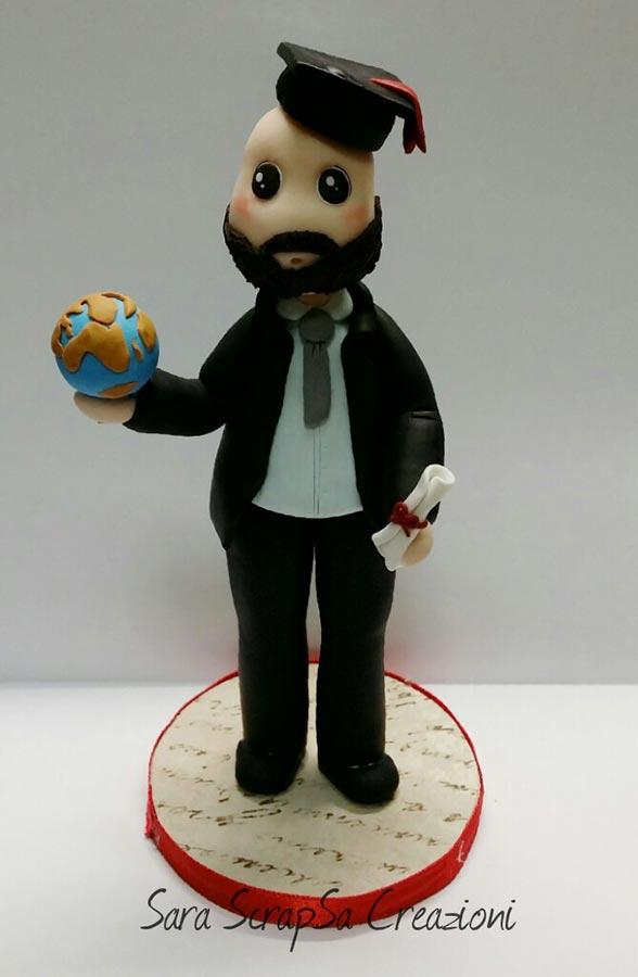 cake topper laurea dottore