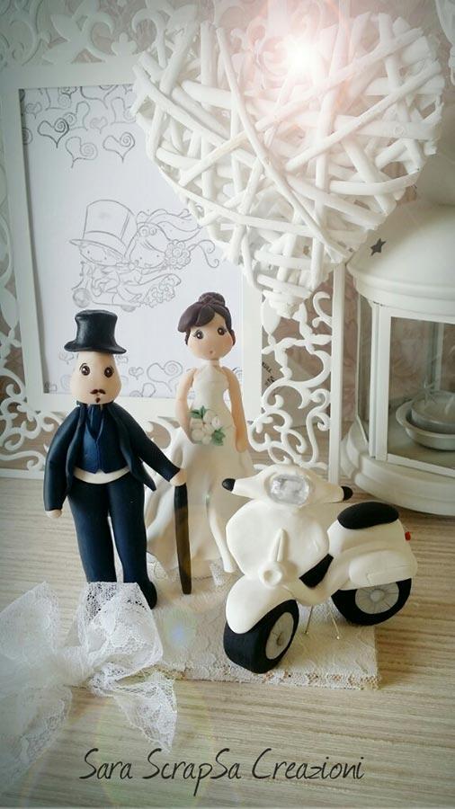 cake topper matrimonio vespa