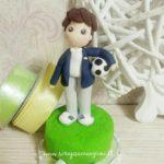 Cake topper prima comunione calcio