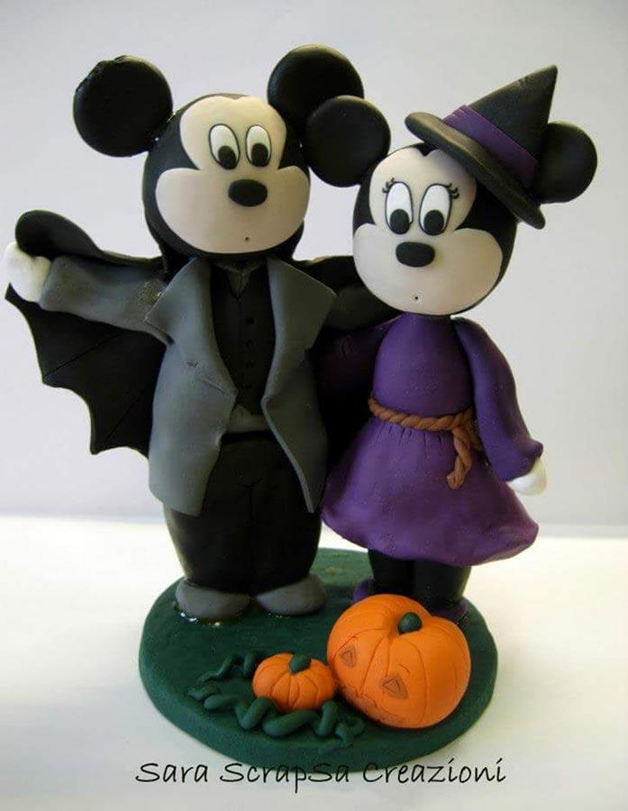 statuine sposi divertenti disney topolino e minnie halloween