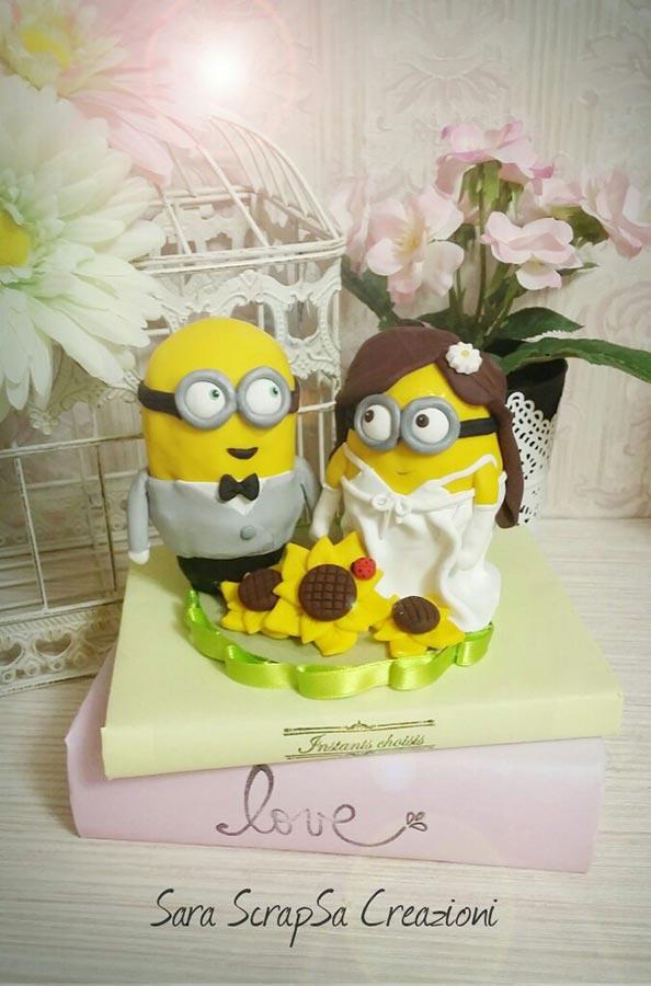 statuine sposi divertenti minions