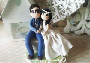 sposini torta nuziale romantici