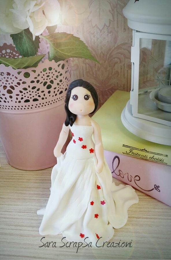 sposini torta nuziale vestito personalizzato