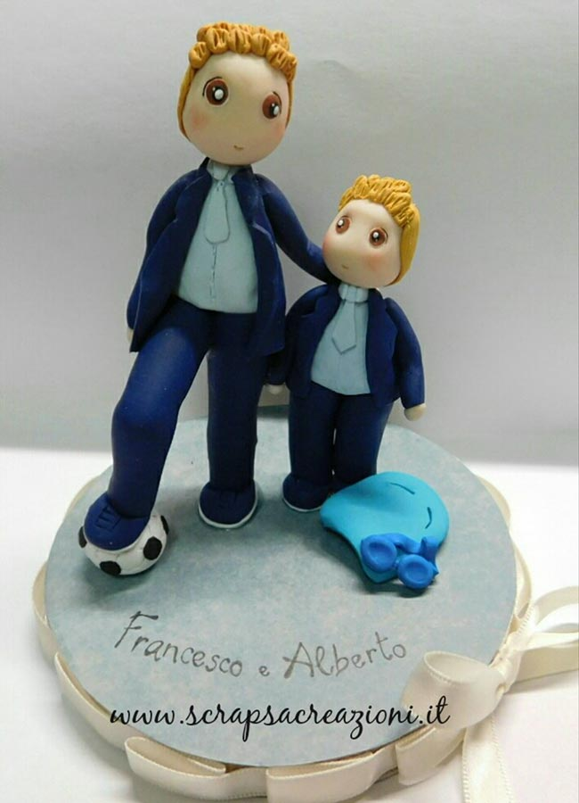 cake topper calcio nuoto