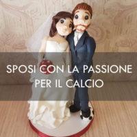 cake topper calcio sposi
