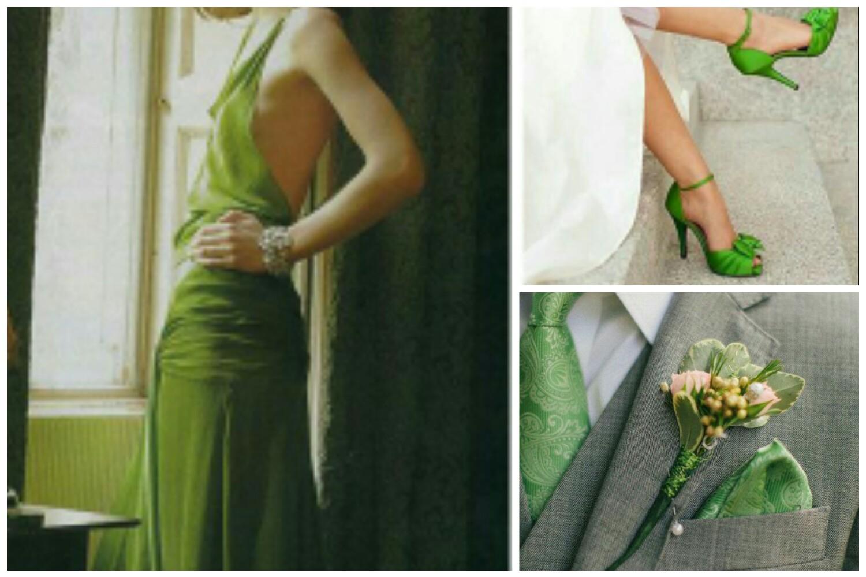 accessori matrimonio verde greenery