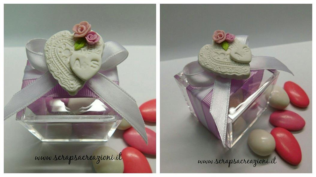bomboniere matrimonio shabby chic scatoline portaconfetti