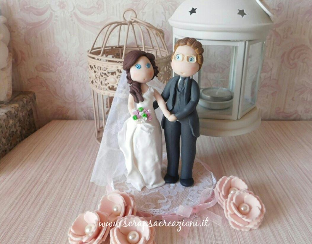 cake topper matrimonio shabby chic