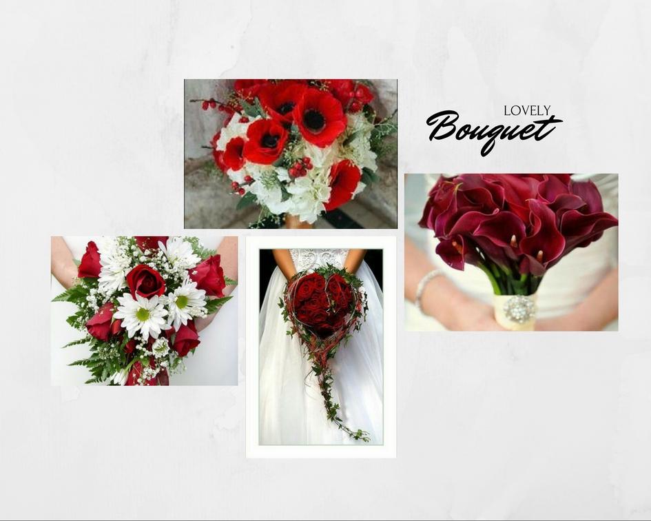 idee bouquet matrimonio in rosso