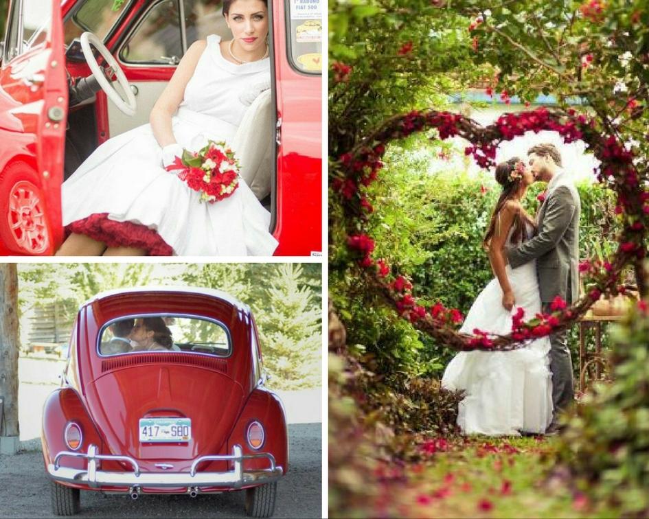 500 vecchia per matrimonio in rosso