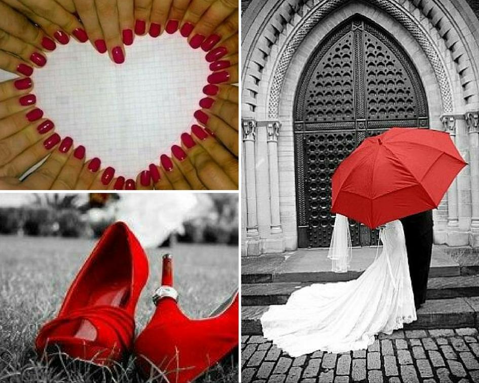 scarpe rosse da sposa