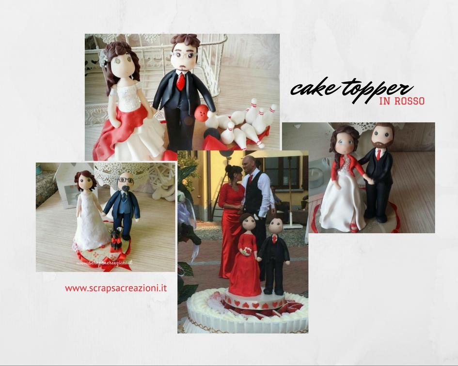 matrimonio in rosso idee per torta
