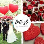 decorazioni matrimonio in rosso