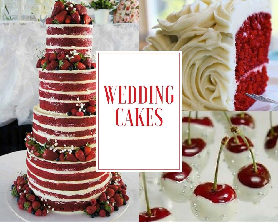 torta matrimonio in rosso