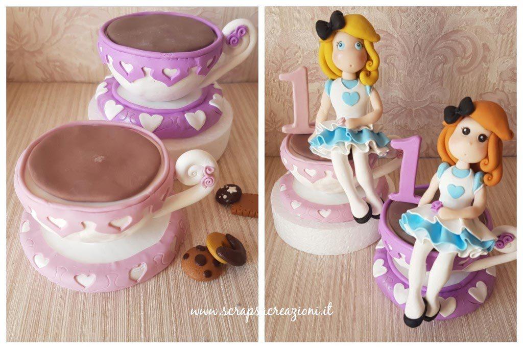 Cake topper per feste di compleanno a tema Alice nel paese delle meraviglie