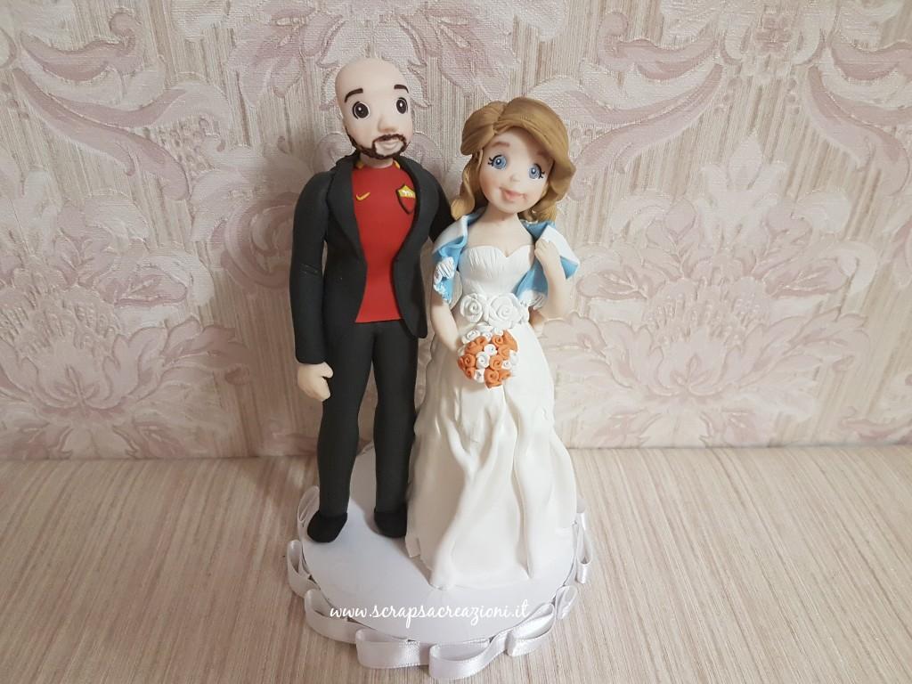 matrimonio tema calcio cake topper derby Roma Lazio