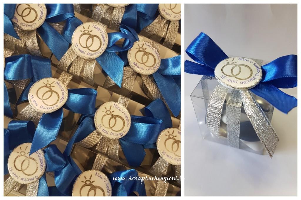 bomboniere e cake topper originali per le nozze d'argento