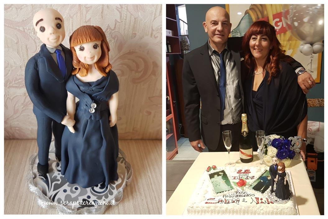 cake topper originali sposini nozze d'argento