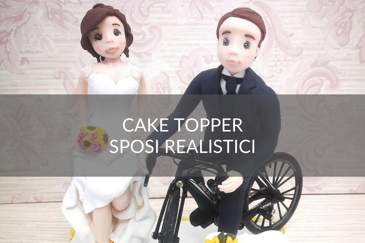 cake topper sposi realistici