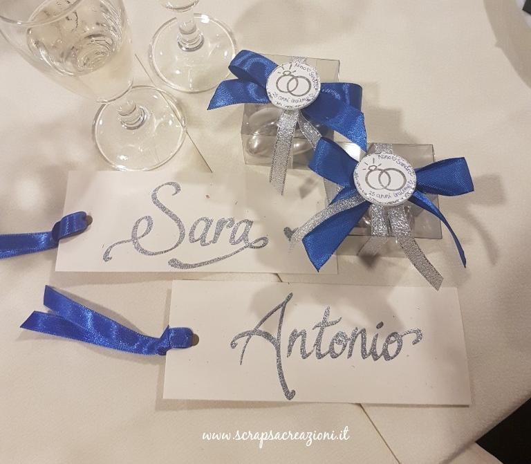 segnaposto e bomboniere originali per le nozze d'argento