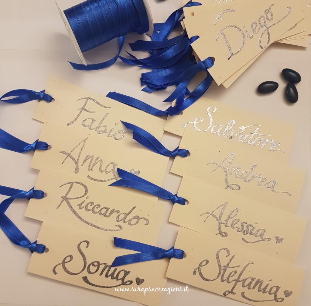 segnaposto originali per le nozze d'argento