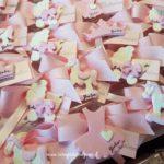 bomboniere battesimo fatte a mano in fimo bianco e rosa