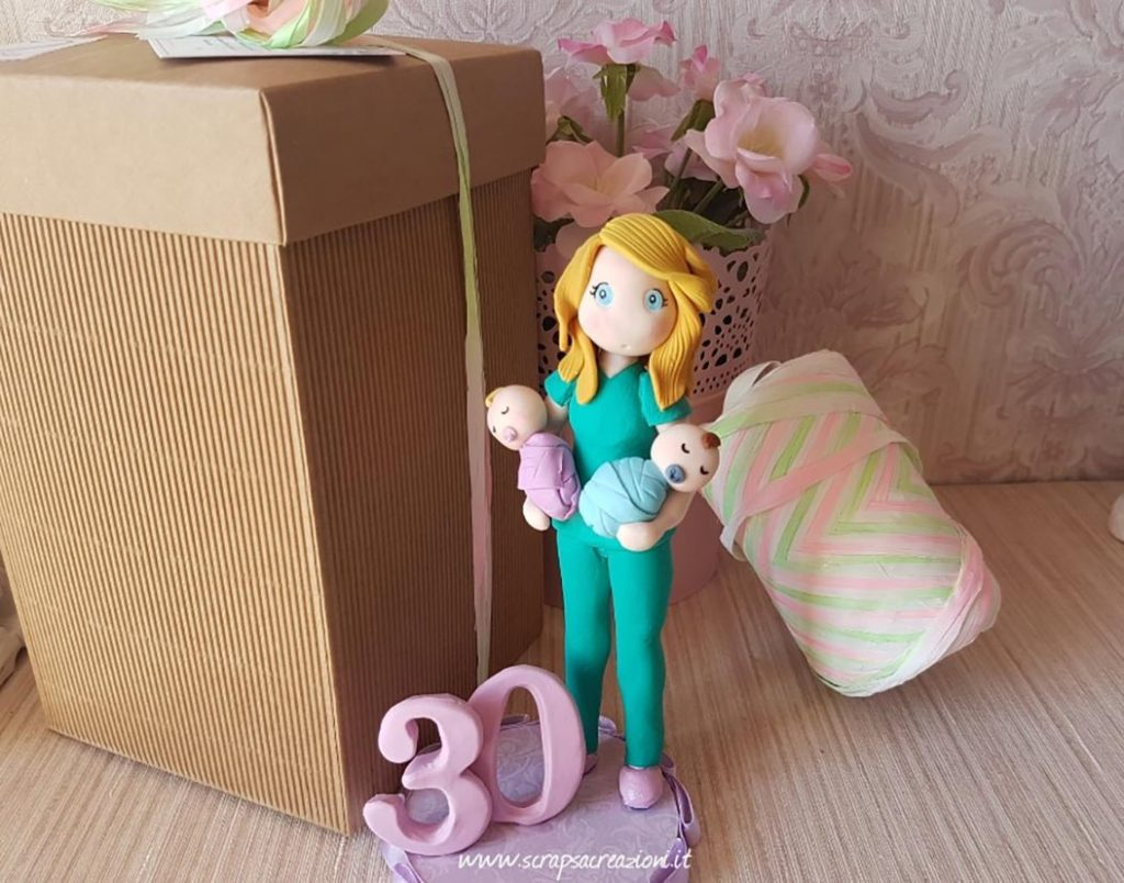 cake topper compleanno ostetrica