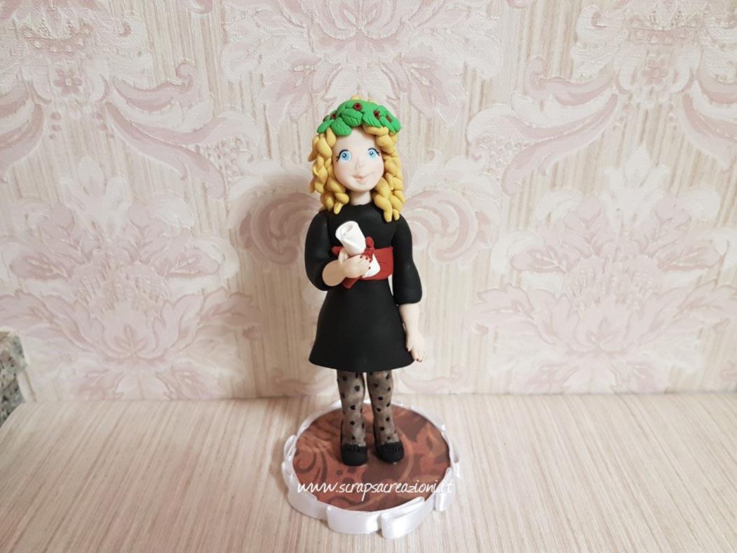 cake topper laurea ragazza