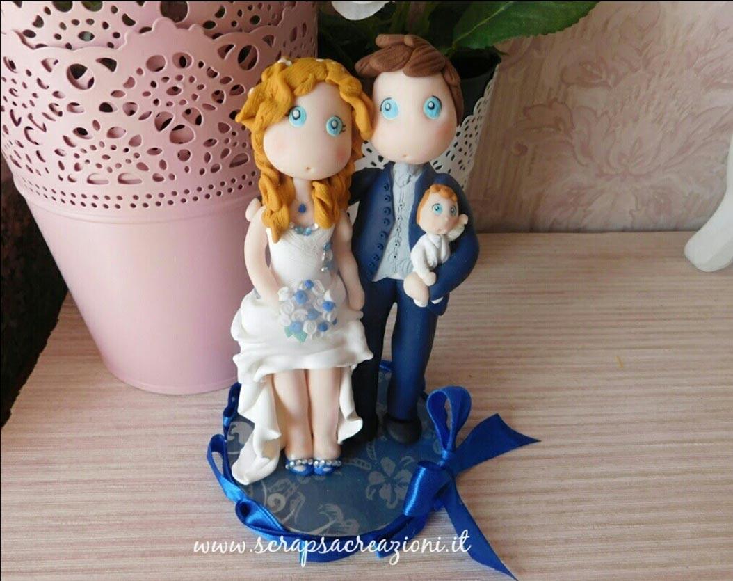 cake topper matrimonio stilizzati