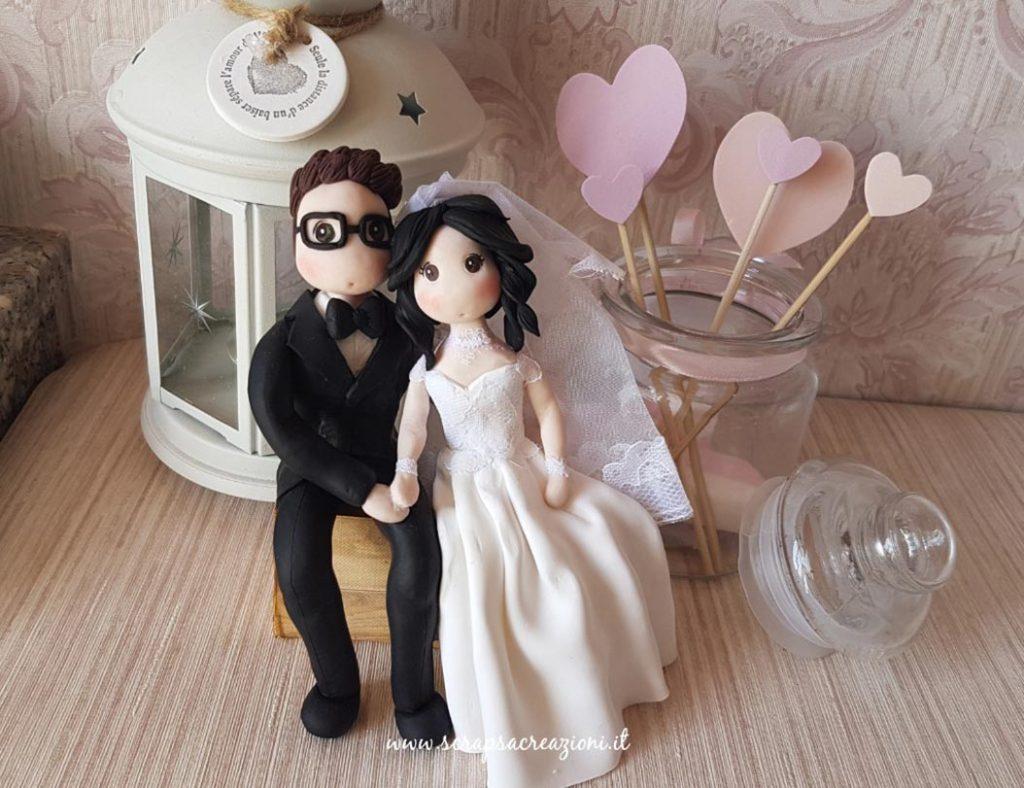 cake topper originali matrimonio