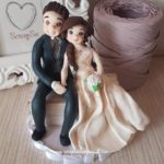 cake topper realistici sposi