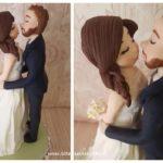 cake topper realistici sposi bacio