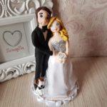 cake topper realistici sposi con cane