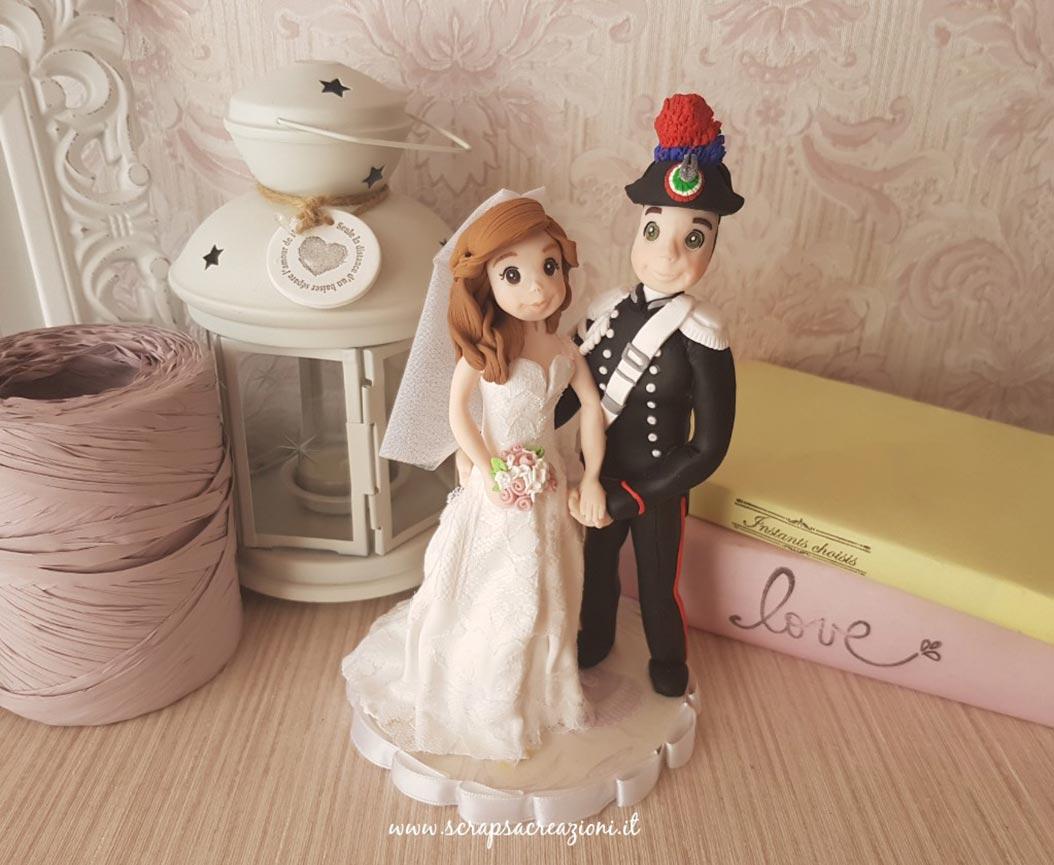 cake topper realistici sposi carabiniere